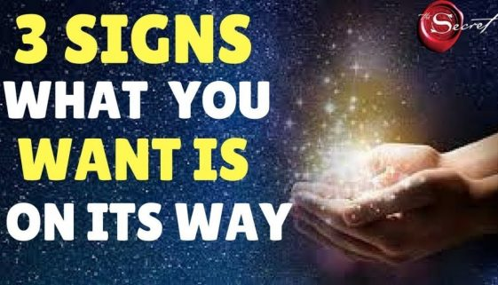 3 Signs The Law of Attraction is Working For You (What You Want To Attract Is On its Way)