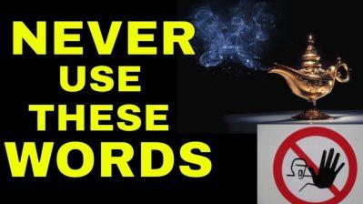 6 Dangerous WORDS That BLOCK THE SECRET Law of Attraction