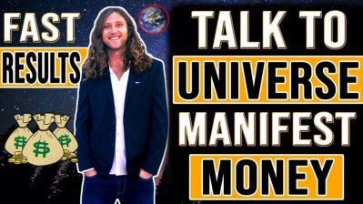 How To TALK TO THE UNIVERSE To MANIFEST MONEY | Law of Attraction Money (WARNING! INSTANT RESULTS)