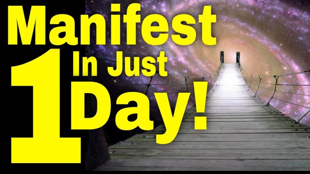 In Just 1 Day You Will Manifest (It's EASY!)