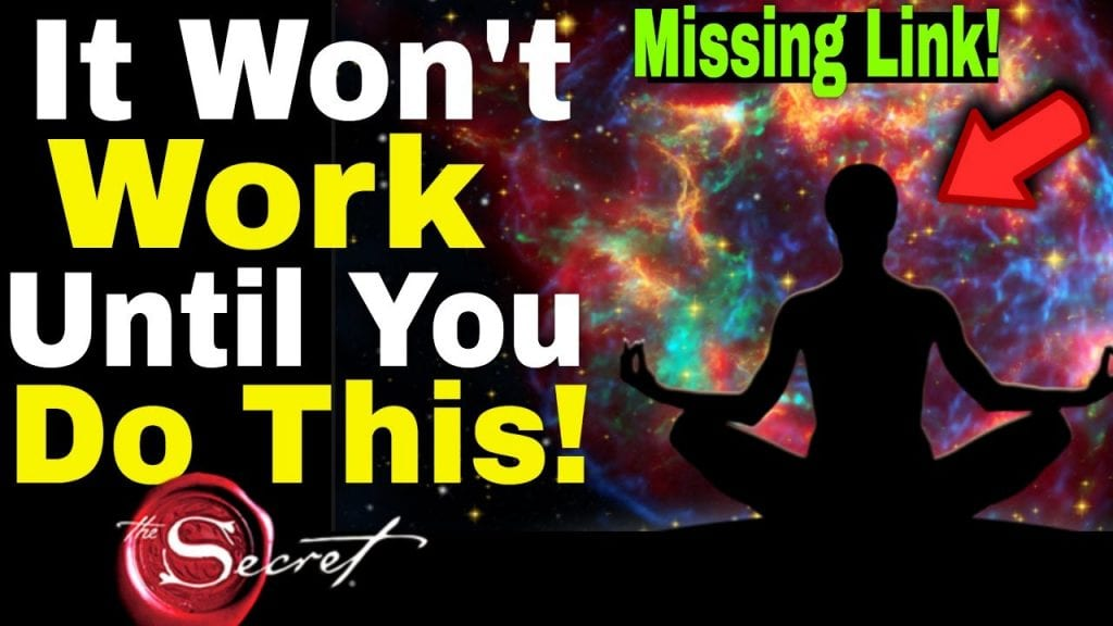 When The Law of Attraction Isn't Working, Do This!! (The Secret)
