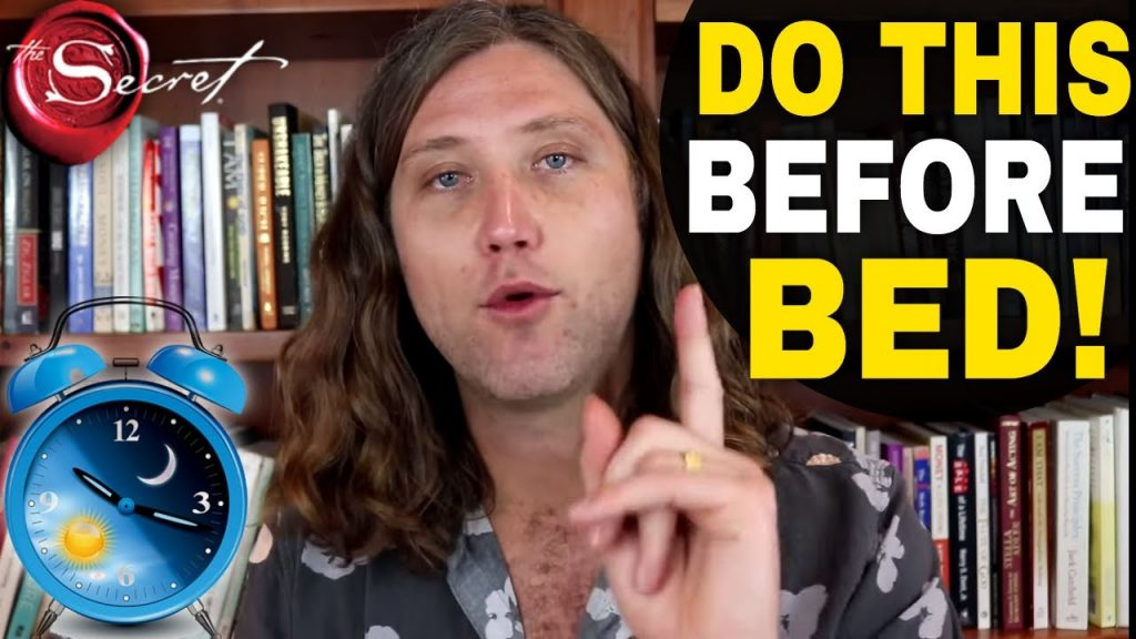 The MOST Powerful NIGHTLY ROUTINE For The Law of Attraction   Try 5 Minutes Before You Fall Asleep