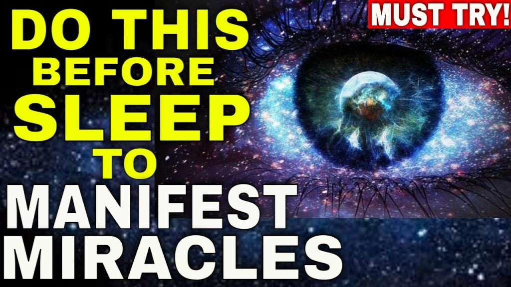 Law of Attraction SLEEP TECHNIQUE to MANIFEST ANYTHING While You Sleep (Neville Goddard Technique)